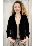 Laurence Bras veste courte OSCAR pan de velours noire