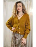 Laurence Bras wool jacket HARMONY oversize tabacco