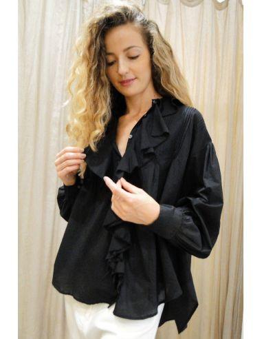 Laurence Bras chemise MINEUR coton noir