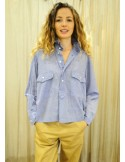 Laurence Bras chemise ample CHEMINEE coton sky (chambray)
