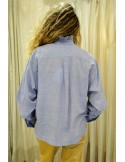 Laurence Bras Oversize loose shirt CHEMINEE cotton Sky