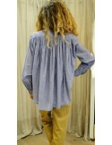 Laurence Bras chemise CIGAR coton plissée chambray