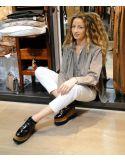 Laurence Bras Shirt CIGAR cotton loose havana dark beige