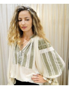 Laurence Bras shirt SHAHI ecru embroidered