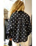 Laurence Bras chemise ample CHEMINEE coton noir