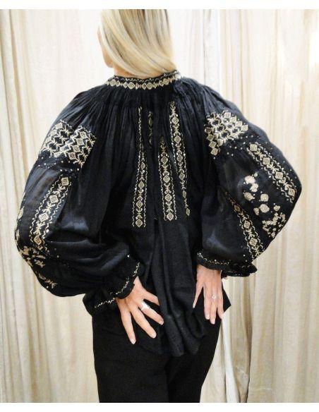 Laurence Bras chemise SHAHI brodée noire