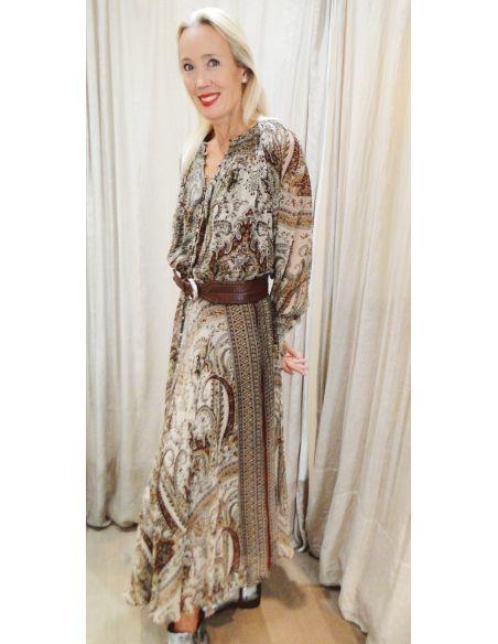Laurence Bras Long dress WHISKY burgandy