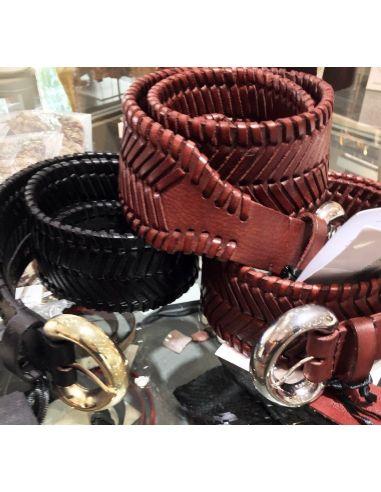 Laurence Bras large belt RANCH black or papaya