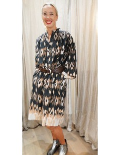 V De Vinster oversize dress midi IKAT black