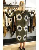 V De Vinster Robe longue Tie & Die vert