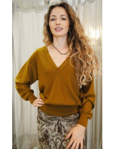 Laurence Bras pull PIANO en laine tabac