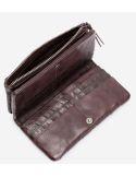BIBA portefeuille cuir tressé CLAIRE CRE4L noir ou marron