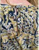 Laurence Bras chemise POPPY coton imprimé jaune