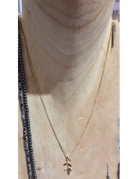 Christelle Dit Christensen Necklace S SAULE plaint gold
