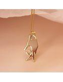 Christelle Dit Christensen Necklace S Coeur sur la main plaint gold