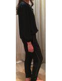 Argentique blouse viscose perlée liens pompons
