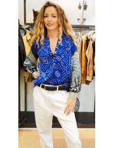 VDeVinster chemise Gurt soie bleu