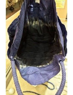 Laurence Bras grand Sac GROCERY shopper tie&die indigo