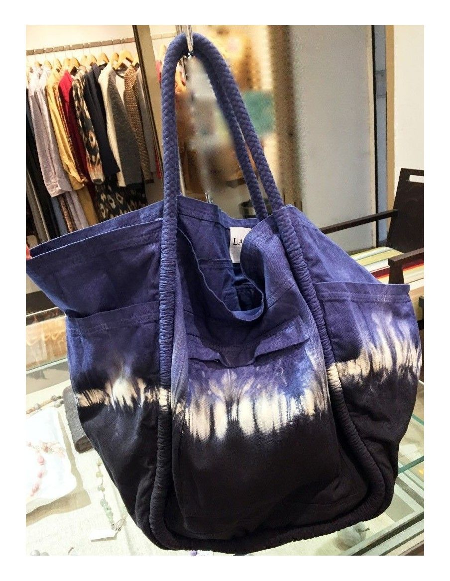 Laurence Bras Bag shopper GROCERY indigo