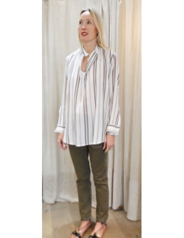 Laurence Bras chemise ample JUUL coton rayé