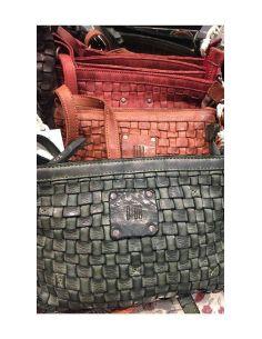 BIBA sac mini Kansas KA9 vert cognac et rouge