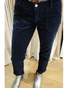 HOD Paris Pants TRESOR navy cotton velvet