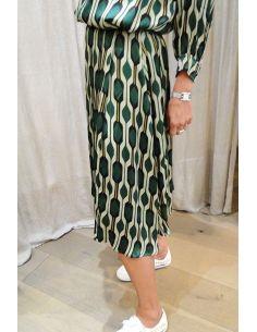 Skirt SIRENA court green geo