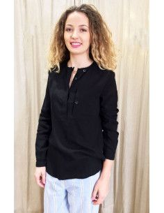 Laurence Bras Straight shirt PRIMARY cotton black