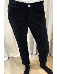 HOD Pants TRESOR carbone cotton velvet