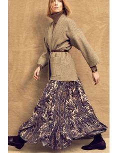Laurence BRAS Long skirt ACAJOU gul-brown