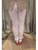Argentique pantalon coton brodé
