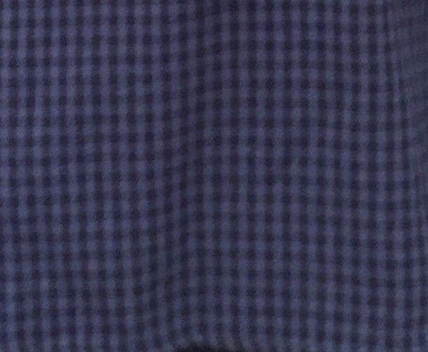 carreaux bleu et noir